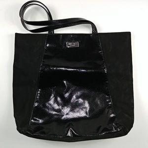 Jimmy ChooBlack Velvet Tote Bag